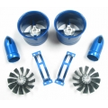 Freewing 70mm Counter Rotating Metal Ducted Fan Set 6s 2200kv